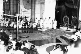 Shri C. Rajagopalachari taking Oath of Office as the Governor General of India at the Government House, New Delhi