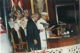 Swearing-in-Ceremony of Dr. Shankar Dayal Sharma as the President of India at Parliament House