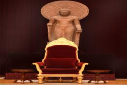 President's Chair placed in the Durbar Hall