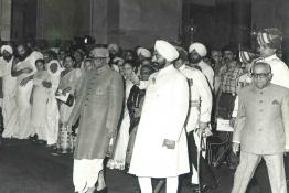 Swearing in Ceremony of Gaini Zail Singh as the 7th President of India at Durbar Hall, Rashtrapati Bhavan