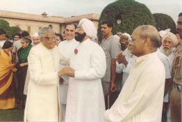 President R. Venkataraman hosting At-Home on the eve of Independence day