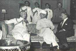 President Dr. Radhakrishnan with Earl Mountbatten of Burma