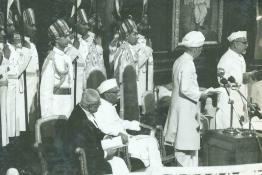 Vice-President of India, Dr. Zakir Husain taking Oath of Office