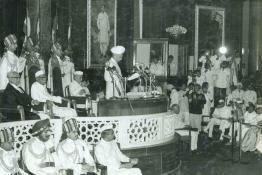President Dr. Radhakrishnan delivering a speech after assuming office.