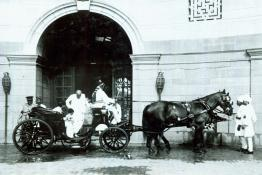 C. Rajagopalachari returning to Government House, after a visit to the Estate Gardens
