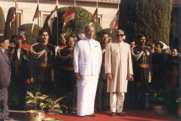 President R. Venkataraman hosting At-Home at the Mughal Gardens on the eve of Republic Day