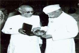 C. Rajagopalachari with Prime Minister Pandit Nehru at the Government House, New Delhi