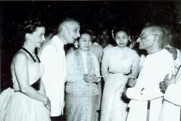 Governor General C. Rajagopalachari hosting At Home on the eve of Independence Day