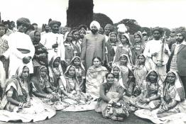 President Gaini Zail Singh with folk dances from various states at Mughal Gardens