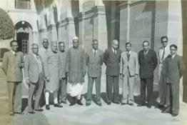 President Dr. Rajendra Prasad with the Prime Minister of Ceylon and his delegation