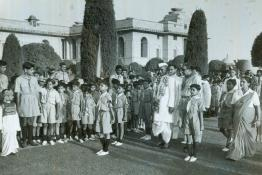 President Dr. Rajendra Prasad at the Mughal Gardens to witness a rally of Bharat Scouts and Guides