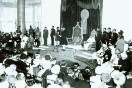 Swearing-in Ceremony of Dr. Rajendra Prasad as the first President of India at the Durbar Hall, Government House, New Delhi