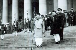 Ceremonial Farewell to Shri C. Rajagopalacharia, outgoing Governor General at the Forecourt of Government  House, New Delhi