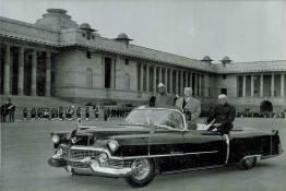 The President of USSR, the President of India and the Prime Minister arriving at Rashtrapati Bhavan