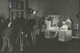 President Dr. Radhakrishnan inaugurating the daily service of the Delhi Television Centre