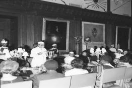 President Dr. Zakir Husain addressing at the banquet hosted in honour of H.E. Dr. Kenneth D. Kaunda, President of the Republic of Zambia, at Rashtrapati Bhavan.