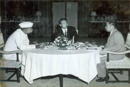 President Dr. Rajendra Prasad with Prime Minister of the People's Republic of China, Zhou Enlai at Rashtrapati Bhavan