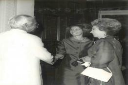 President Dr. Radhakrishnan with Queen Frederica, Queen Mother of Greece and Princess of Irene
