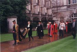 Proceeding for the Senate Hall led by Chancellor Prince Phillip Duke of Edin Borough, Cambridge