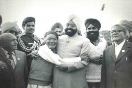 President Gaini Zail Singh at Mughal Gardens at an At-Home to freedom fighters