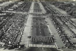 Aerial view of the Republic Day Parade