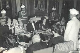 President Dr. Radhakrishnan delivering his speech at the State Banquet in honour of the King of Jordon