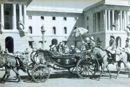 President Dr. Rajendra Prasad arriving In State to attend the Republic Day Parade