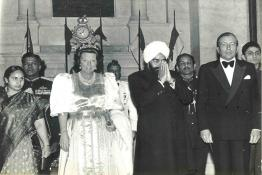 President Giani Zail Singh hosting Banquet in honour of Queen of Netherlands