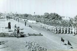 President Dr. Rajendra Prasad taking salute on Republic Day