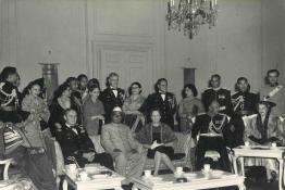 President Dr. Rajendra Prasad with General and Mrs. Maxwell D. Taylor and other guests at a Tea Party, Rashtrapati Bhavan