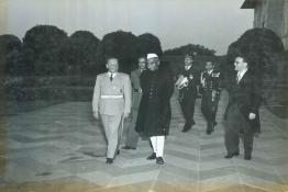 President Dr. Prasad with Marshal Tito at the Mughal Gardens, Rashtrapati Bhavan