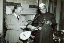 President Dr. Rajendra Prasad and Marshal Tito sharing a light moment at Rashtrapati Bhavan