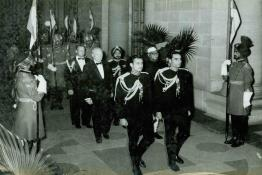 President of the U.S.A., Dwight D. Eisenhower arriving for the State Banquet held in his honour by President Dr. Rajendra Prasad