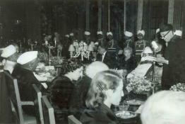 H.E. the Governor General of Pakistan at the Banquet given in his honour at Rashtrapati Bhavan.