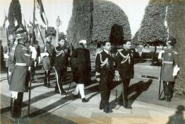 President Dr. Rajendra Prasad arriving in procession to attend the Republic Day At-Home