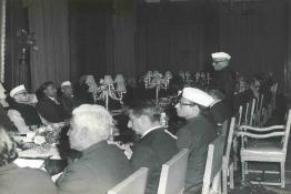 President N.S. Reddy at the State Banquet at Rashtrapati Bhavan