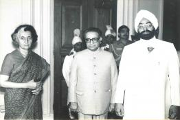 President Gaini Zail Singh at the swearing in Ceremony of Auditor General of India