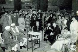 President Dr. Rajendra Prasad at a reception given to the delegates of the Indian Science Congress at Rashtrapati Bhavan