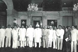 President Giani Zail Singh with Council of Ministers