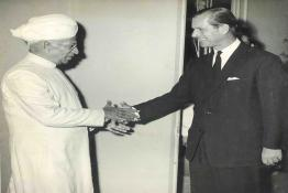 President Dr. Radhakrishnan with the Duke of Edinburgh at Rashtrapati Bhavan
