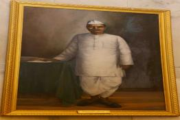 Life Size painting of Dr. Rajendra Prasad displayed in the Durbar Hall