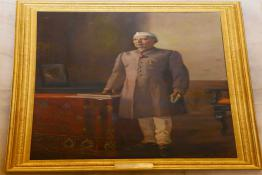 Life Size painting of Pandit Jawaharlal Nehru displayed in the Durbar Hall